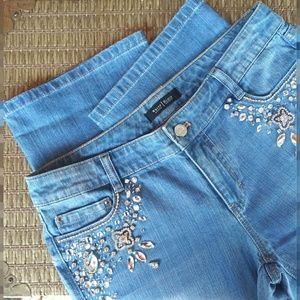 🏵 NWT White House Black Market Blanc Jeans Sz 4R